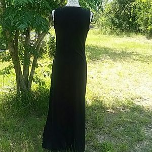 Nina Leonard Dresses - NinaLeonard Long Slimming Black Dress Side Slits